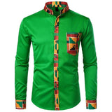 Dashiki African Shirt For Men-Shirt-Green-Le Style Parfait Kenya