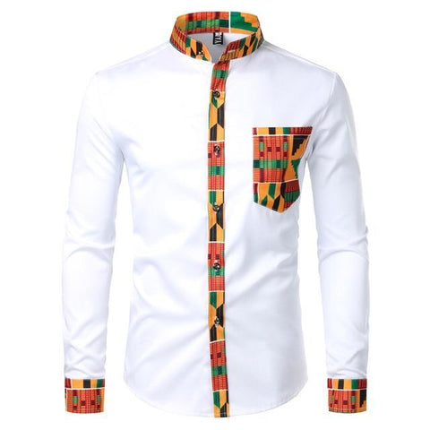 Dashiki African Shirt For Men-Shirt-White-Le Style Parfait Kenya