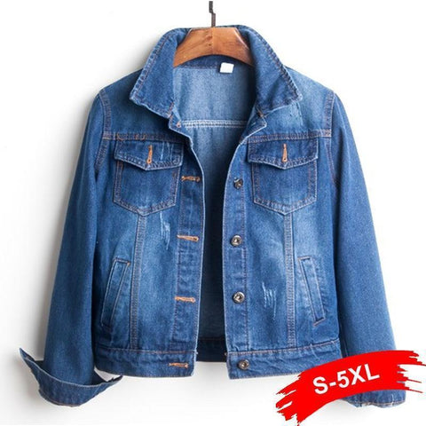 Denim Jacket, Women Jacket, Plus Size Crop Jacket-Jacket-Le Style Parfait Kenya