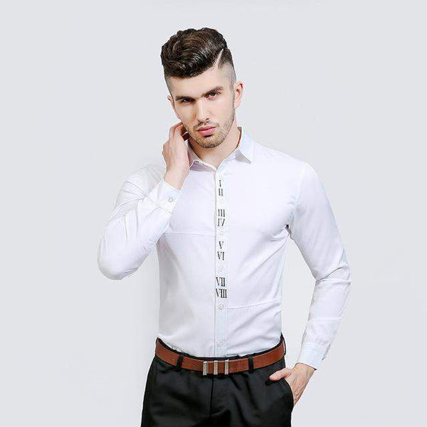 Dress Shirts For Men, Fashion Design Slim Fit Casual Shirt-Shirt-Kenya-LeStyleParfait.Co.Ke