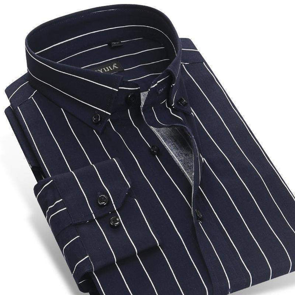 Dress Shirts For Men, Striped Dress Shirts, Cotton Business Slim-Fit Shirt-Shirt-Kenya-LeStyleParfait.Co.Ke