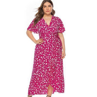 Easy Choice Floral Maxi Dress-Dress-Red-Le Style Parfait Kenya