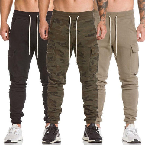 Elastic Twill Jogger Pants For Men, Casual Sweatpants-Men's Pants-Kenya-LeStyleParfait.Co.Ke
