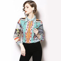 Elegant Runway Fashion Women Shirt Vintage Blouse-Blouse-Kenya-LeStyleParfait.Co.Ke