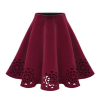 Elegant Women Skirts A Line Zipper Skirts-Skirts-Kenya-LeStyleParfait.Co.Ke