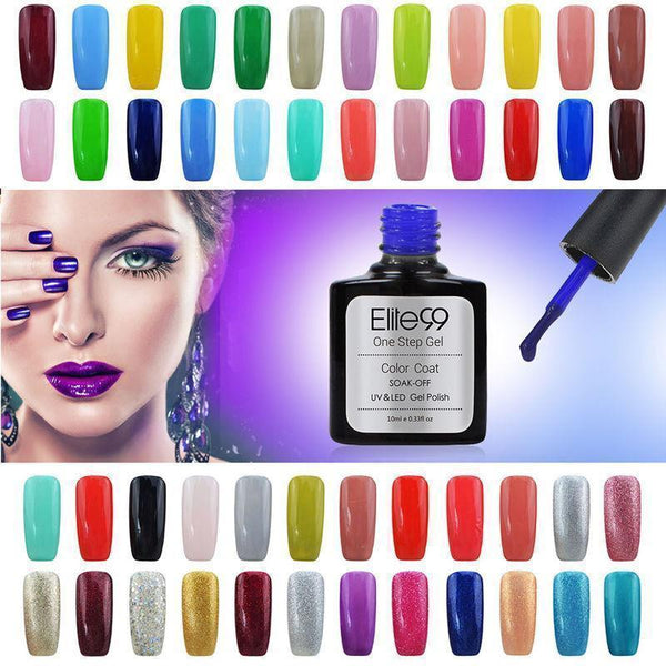 Elite99 3-in-1 UV LED One Step Nail Polish Gel Manicure Varnish 10ml-Nail Polish-Kenya-LeStyleParfait.Co.Ke