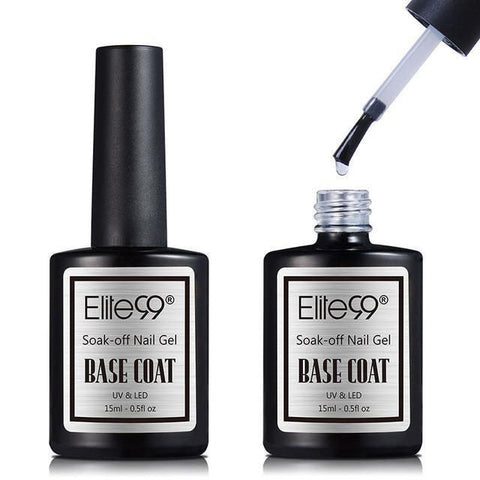Elite99 Shinny UV LED Soak Off Gel Polish Base Coat And Top Coat Gel 15ml-Nail Polish-Kenya-LeStyleParfait.Co.Ke