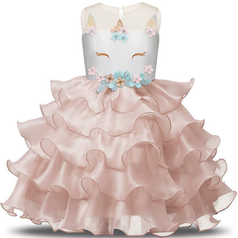 Fancy Girl's Dress Fairy Party Dress Sleeveless-Girls Dresses-Kenya-LeStyleParfait.Co.Ke