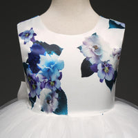 Fancy Girls Dresses Christmas or Wedding Dresses 1- 8 Years Blue Floral-Girls Dresses-Kenya-LeStyleParfait.Co.Ke