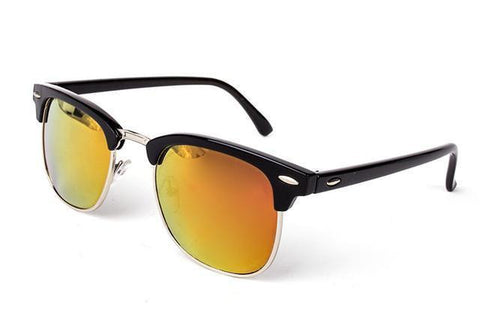 Fashion Brand Designer Glasses, UNISEX High Quality Sunglasses, UV400, Black Orange-Sunglasses-LeStyleParfait.Co.Ke