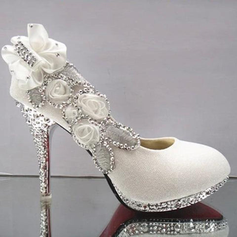 Floral Glitter Wedding Shoes For Women-Shoes-LeStyleParfait.Co.Ke