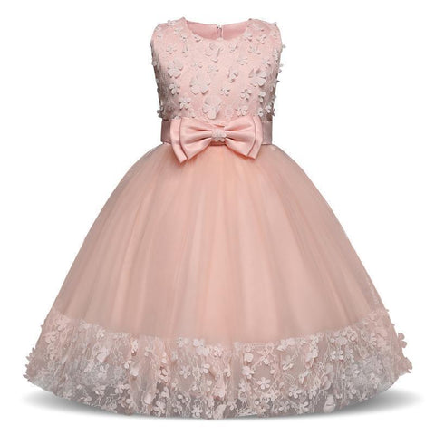Flower Girl Dress Sleeveless Princess Dress Party Dress-Girls Dresses-Kenya-LeStyleParfait.Co.Ke