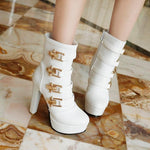Frans Boots With Buckles-Shoes-Le Style Parfait Kenya