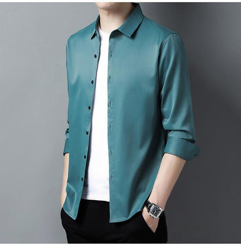 Gilan Plus Size Silk Shirts For Men-Shirt-LeStyleParfait.Co.Ke