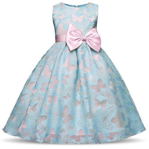 Girls Dress Princess Dress Sleeveless Summer Dress-Girls Dresses-Kenya-LeStyleParfait.Co.Ke