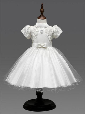 Girls Dresses, Vintage Lace Wedding Dress For Kids 0-8 Yrs-Girls Dresses-LeStyleParfait.Co.Ke