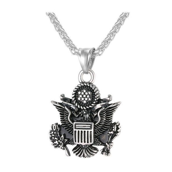 Great Seal of the United States Statement Necklace Bling Chain & Pendant UNISEX Fashion Jewelry-Necklaces & Chains-LeStyleParfait.Co.Ke