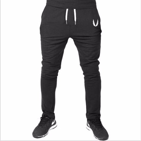 Gym Pants Fitness Jogger Pants Black-Men's Pants-Kenya-LeStyleParfait.Co.Ke
