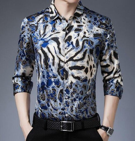 Hendrix Leopard Print Shirt For Men-Shirt-LeStyleParfait.Co.Ke