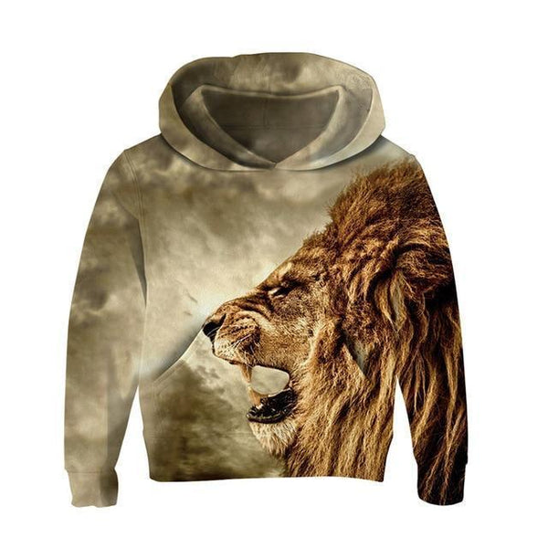 Hoodie, Kids 3D Hoodies, Lion-Kids Hoodies-Kenya-LeStyleParfait.Co.Ke