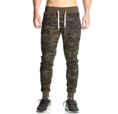 Jogger Pants Camouflage Workout Sweatpants Skinny Pants-Men's Pants-Kenya-LeStyleParfait.Co.Ke