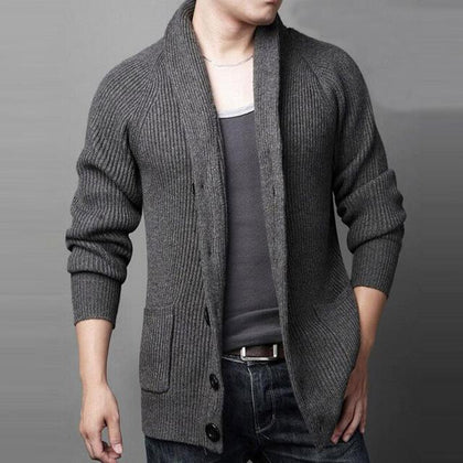 Keep Me Warm Men's Cardigan-Sweaters-Grey-Le Style Parfait Kenya