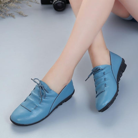 Lace Up Blue Loafers For Women-Shoes-Online-Kenya-LeStyleParfait