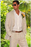 Linen Wedding Suit Plus Size 2-Piece Men's Suit Khaki-Suit-Kenya-LeStyleParfait.Co.Ke