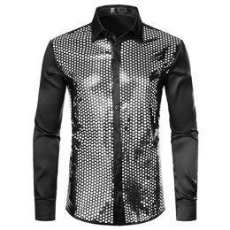 Luxury Sequins Silk Shirt For Men-Shirt-LeStyleParfait.Co.Ke