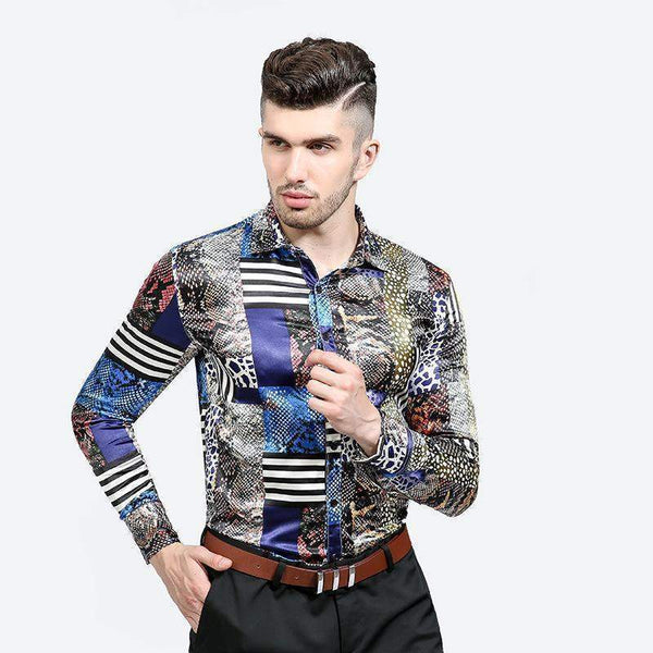 Men Casual Shirt, Printed Slim Fit Shirt-Shirt-Kenya-LeStyleParfait.Co.Ke