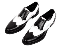Men Oxfords, Genuine Leather, Vintage, Black, Brown-Shoes-Le Style Parfait Kenya