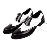 Men Oxfords, Genuine Leather, Vintage, Black, Brown-Shoes-black-Le Style Parfait Kenya
