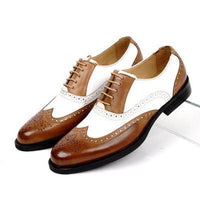 Men Oxfords, Genuine Leather, Vintage, Black, Brown-Shoes-brown-Le Style Parfait Kenya