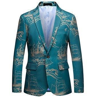 Men's Blazer Plus Size Party Blazer Slim Fit-Blazer-Kenya-LeStyleParfait.Co.Ke