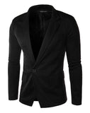 Men's Blazers Slim Blazers, Casual Blazers, Black, White-Blazer-LeStyleParfait.Co.Ke
