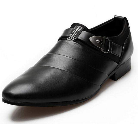Mens Casual Shoes, Oxford Wedding Shoes, White, Brown, Black-Shoes-Black-Le Style Parfait Kenya