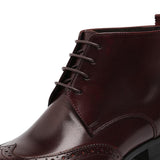 Men's Chelsea Boots Genuine Leather Carved Brogue Men's Shoes-Shoes-LeStyleParfait.Co.Ke