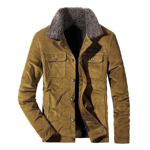 Men's Corduroy Jackets, Fleece Lined- Autumn, Clothing, Corduroy, Fall, Fleece, Jackets, Men, Men's, Men's Jackets, Plus Size, Winter-LeStyleParfait.Com