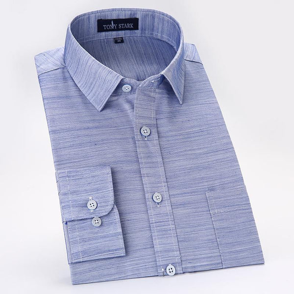 Men's Dress Shirts Cotton Linen Shirts-Shirt-Kenya-LeStyleParfait.Co.Ke
