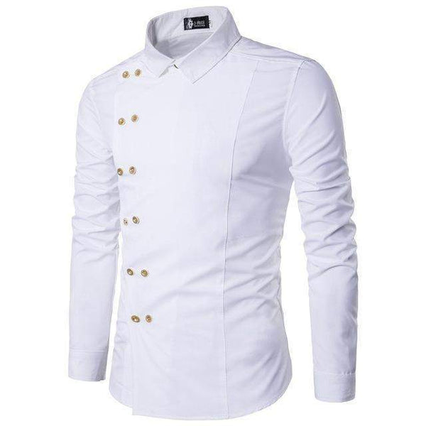Mens Dress Shirts, Double Breast Mens Shirts, Slim Fit Casual Shirt-Shirt-Kenya-LeStyleParfait.Co.Ke
