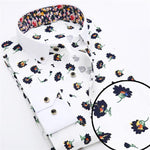 Men's Dress Shirts, Floral Shirts, Casual Shirts, Blue, White-Shirt-LeStyleParfait.Co.Ke