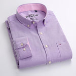 Mens Dress SHirts Long Sleeve Oxford Dress Shirt-Shirt-Kenya-LeStyleParfait.Co.Ke