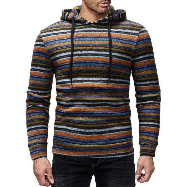 Men's Hoodies, Striped Hoodie-Hoodie-Kenya-LeStyleParfait.Co.Ke