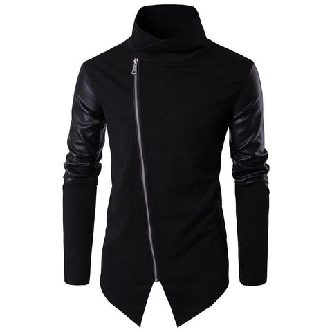 Men's Jacket With Leather Sleeves-Jacket-Le Style Parfait Kenya
