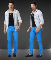Men's Jean Pants Casual Elegant Pants Size 29-38, Blue-Men's Pants-LeStyleParfait.Co.Ke