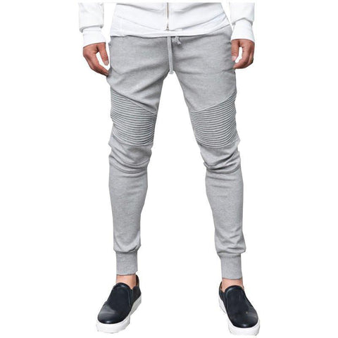 Mens Joggers Mens Sweatpants Elastic Slim Fit-Men's Pants-Kenya-LeStyleParfait.Co.Ke