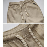 Mens Linen Pants Joggers High Quality Casual Loose Trousers-Men's Pants-Kenya-LeStyleParfait.Co.Ke