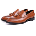 Men's Loafers Genuine Leather Loafer Shoes Black Brown-Shoes-LeStyleParfait.Co.Ke