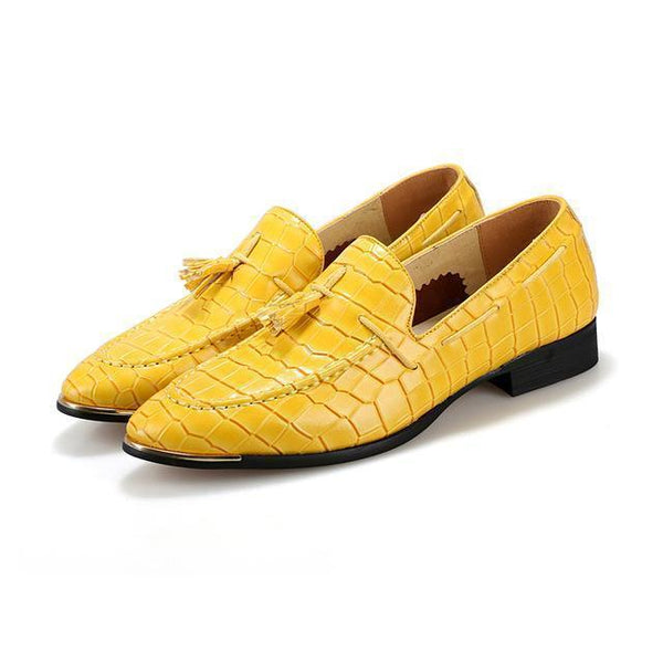 Men's Loafers With Tassel Pointed Men's Shoes-Shoes-LeStyleParfait.Co.Ke