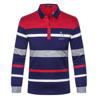 Men's Polo Shirt Striped T-Shirt-T-Shirts-Kenya-LeStyleParfait.Co.Ke